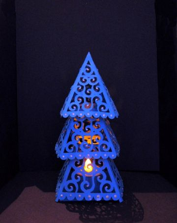Christmas Tree Lantern Template